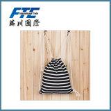 Stripe 210d Nylon Drawstring Bag