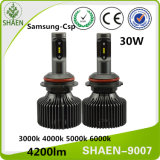 30W 4200lm H1 H7 H3 H4 9007 Auto LED Car Light, 360 Degree