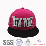 Flat Bill Snapback Cap and Hat with 3D Embroidery (GKA15-F00006)