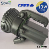 10W Powerful Waterproof LED Torch with 5.5ah Rechargeable Battery