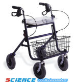 Steel Rollator with Meal Plate and Wire Basket (SC-RL05(S))