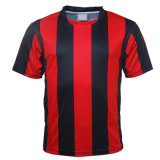 Custom Red Black Sublimated Football Shirt with Your Team Logo