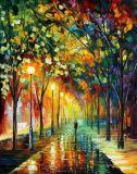100% Handmade Landscape Tree Oil Painting (KVL-086)