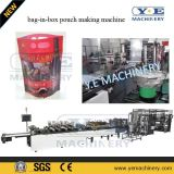 PLC Stand up Red Wine Valve Bib Pouch Making Machine