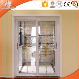 Perfect Aluminum Horizontal Sliding Doors for Villa and Balcony, Wood Grain Aluminum Vertical Sliding Glass Doors