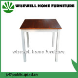 Simple Bi-Color Square Wood Dining Table