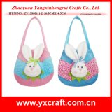 Easter Decoration (ZY13S801-1-2 16.5CMX14.5CM) Wholesale Easter Bucket Easter Rabbit Design