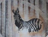 Oil Painting of a Zebra