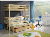 UK Standard 3FT Single Wooden Bunk Bed-Triple Bed