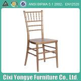 Plastic Golden Resin Chiavari Chair for Outdoor Wedding