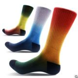 Custom Space Dyed Cotton Men′s Sport Sock in Various Colors and Designs