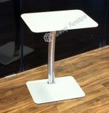 Color Glass Stainless Steel Side Table (J3108)