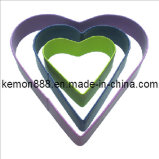 3PCS Cookie Cutters-Heart with Colorful Painting (60401)