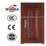 Classic 0.8mm Material Wood Color Security Steel Door (W-S-50)