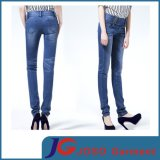 High Waist with Four Side-Buckles Tight Girl Jean Trousers (JC1199)