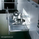 Oppein Flat Mesh Pull out Kitchen Basket for Pan (OP-LB060TLA)