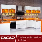 Orange Candy Home Modern Stoving Varnish Lacquer Kitchen Cabinet (CAIK-01)