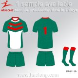 Healong China Manufacture Sports Clothing Gear Digital Printing Men′s Rugby Uniforms