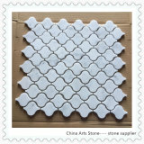 China White/Beige/Brown Marble Mosaic (lantern) for Wall Tile