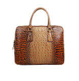 Factory Price Crocodile Grain Leather Tote Handbag for Business Men