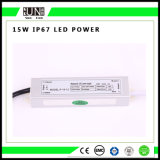 Ce 15W Constant Voltage IP65 IP67 12V Waterproof LED Power Supply
