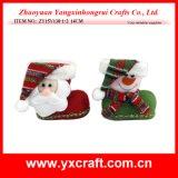 Christmas Decoration (ZY15Y138-1-2) Christmas Cloth Boot Christmas Gift Box