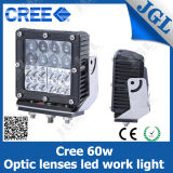 60W CREE LED Square Working Light for Heavy Vehicles