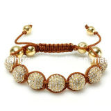 Fashion Jewelry Gold Shamballa Bracelet