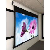 "China Factory Directly Sales 100"" Motorized Tab-Tensioned Screen"