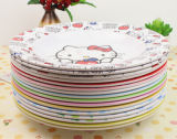 Eco-Friendly Colorful, Cute Bamboo Fiber Plate (YK-P4019)