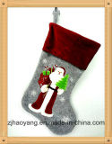 Non-Woven Material Embroideried Wholesale Christmas Stocking for Holiday Decor