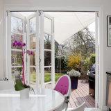 Custom Double Glazing Aluminium Folding Door for Building