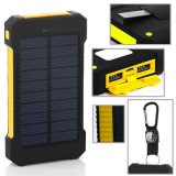 Emergencyl Waterproof RoHS 10000mAh Mobile Solar Charger Power Bank
