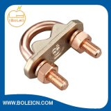 Copper Earthing Connection High Strength U Bolt Rod Clamps