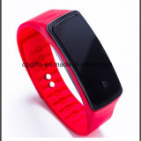 Fashion LED Mirror Touch Screen Smart Watch Silicone Band
