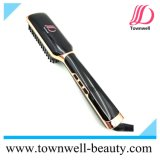 Brush Hair Straightener Comb Iron with LCD Display