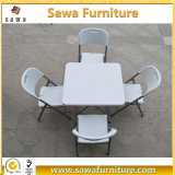 87cm Plastic Square Folding Table for Dining Picnic