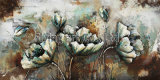 3 D Metal Painting for Flower