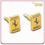 High Qulaity Customized Hard Enamel Gold Plated Finish Cufflink