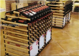 Wood and Metal Island Wine Holder 144 Bottle Rack