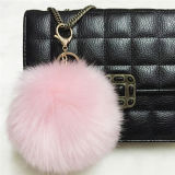Hot Sale Real Fox Fur Bag Hanger Fuzzy Ball Keychain