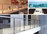Balcony Stainless Steel Railing Balustrade with Post and U Channel