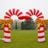 Outdoor Holiday Decoration Inflatable Candy Arch