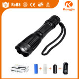 Strong LED Light Tactical X800 Rechargeable Flashlight Torch