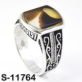 Fashion Jewelry 925 Silver Ring with Natural Agate