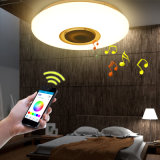 24W LED RGB Music Ceiling Light Shade Lamp Bluetooth Speaker APP Remote Control