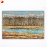 Riverside Forests Wall Picture Handmade Oil Painting for Decor