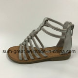 PU Upper Girl′s Sandal with TPR Outsole