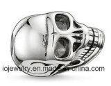 316L Stainless Steel Skull Head European Big Hole Beads