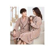 Promotional Couple Flannel / Coral Fleece/ Velvet / Flannel Bathrobe / Pajama / Nightwear